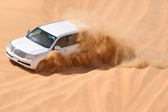 Desert Safari Dubai with BBQ Dinner, live shows and Camel ride (4X4 Pick up)