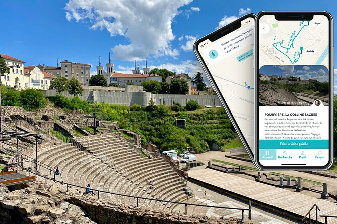 Gift card, 3 audio-guided tours of Lyon on smartphone