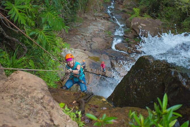 Day Trip Combo: Waterfall Rappelling PLUS Zipline at Bocawina - Antelope Falls