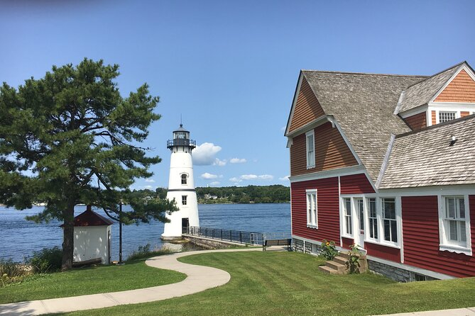 St Lawrence River - Rock Island Lighthouse on a Glass Bottom Boat Tour
