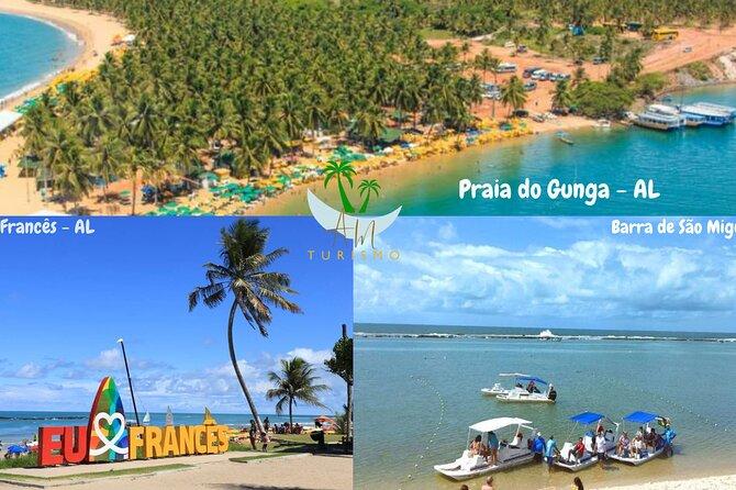 Passeios Por todo Litoral Alagoano (Gunga, Maragogi, Milagres, Porto, etc..)