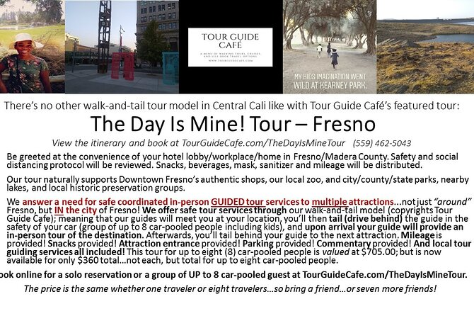 The Day Is Mine Private Day Tour in Fresno