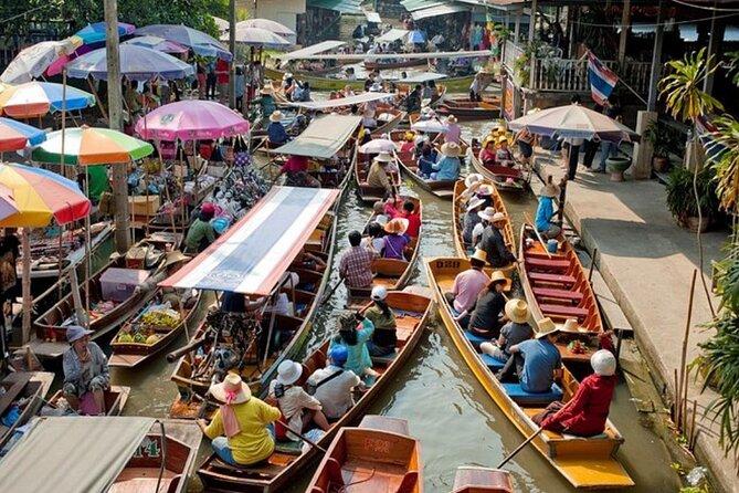 Amphawa Floating Market and Maeklong Train Market Tour