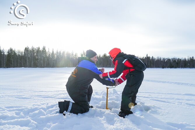 Sample Arctic Ice Fishing By Snowshoe Travel