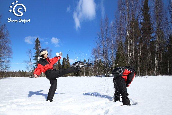 Snowshoeing In Lapland Wilderness
