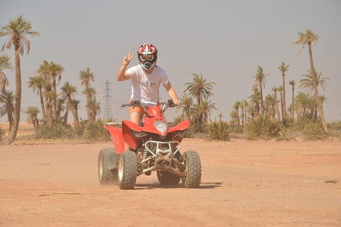 Half day quad bike at landscape of Marrakech and spa Hamam from Casablanca