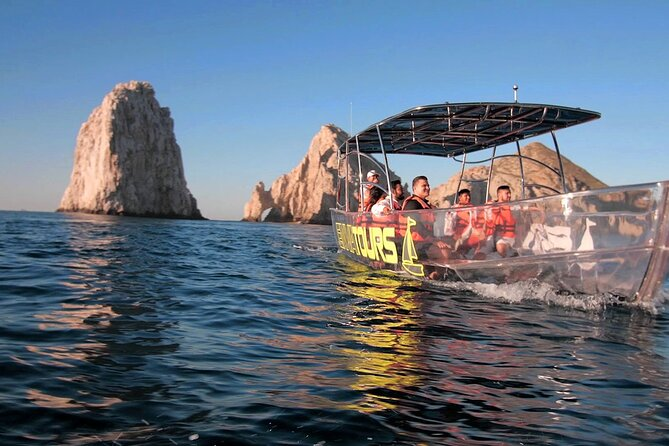 Clear Glass-Bottom Boat Cabo Tour