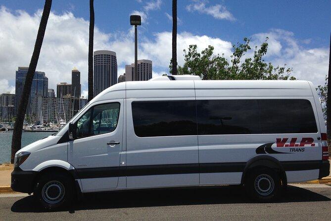 Arrival Transfer: Airport Shuttle Honolulu and Waikiki or Cruise Terminal