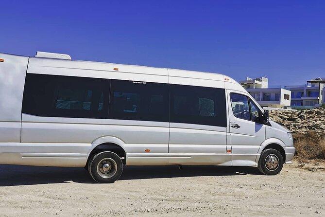Cyprus Larnaca Airport Private Transfers to Protaras 1-15 passengers