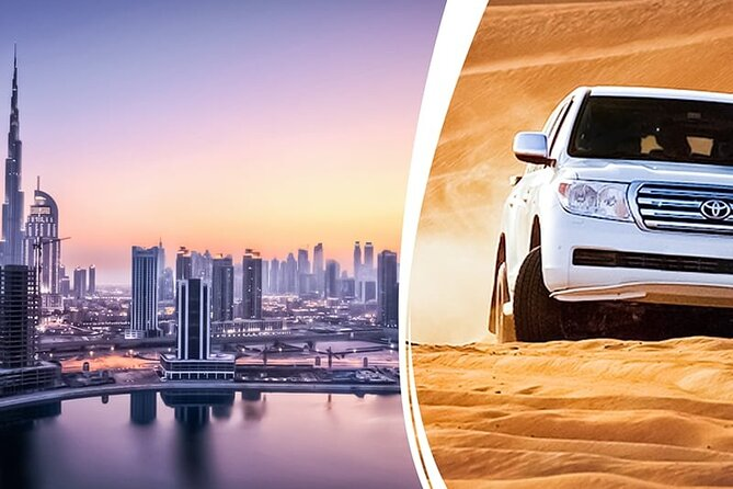 Dubai City Tour & Evening Dubai Desert Safari With BBQ Dinner + Camel Riding.