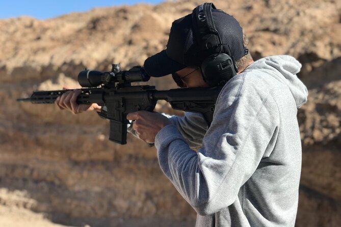 Outdoor Shooting With Gun Instructor In Las Vegas