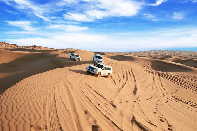 Dubai Morning Red Dune Desert Safari + Camel Ride + Sand Boarding