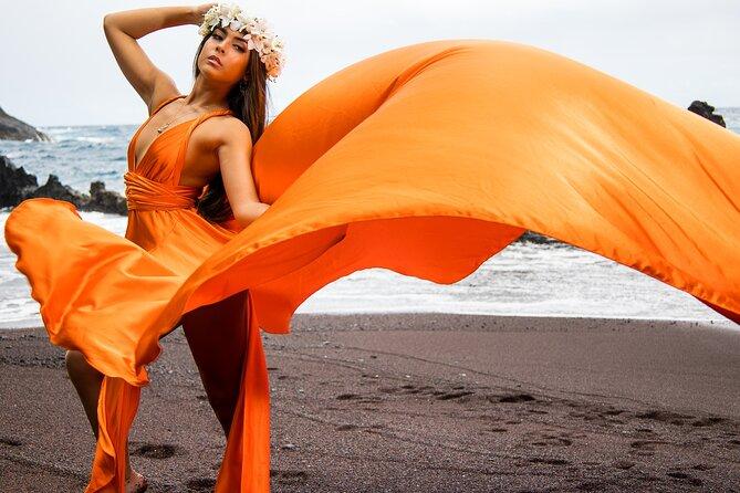 Wailea Beach Private Maui Flying Dress Photoshoot Experience
