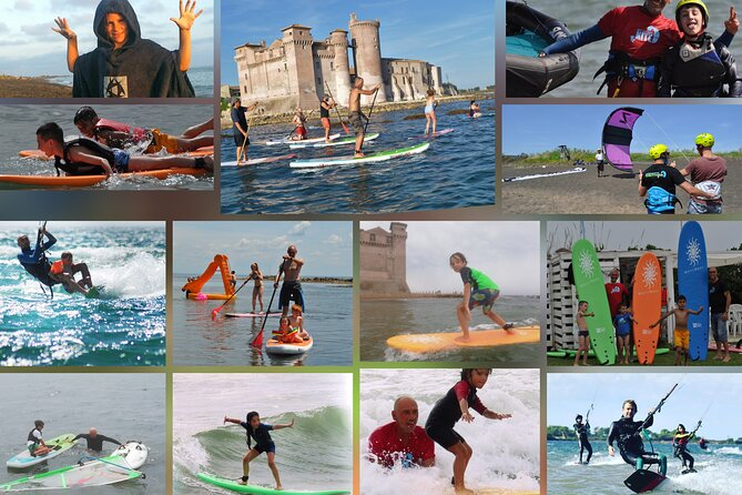 Kitesurf-surf-sup-windsurf surf courses and guided sup tours.