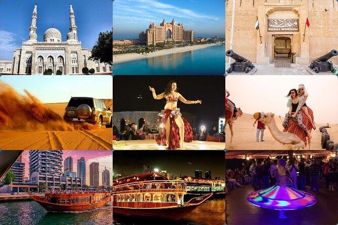 Dubai City Tour, Desert Safari and Marina Dhow Cruise Tour (TRIO) 2 Days