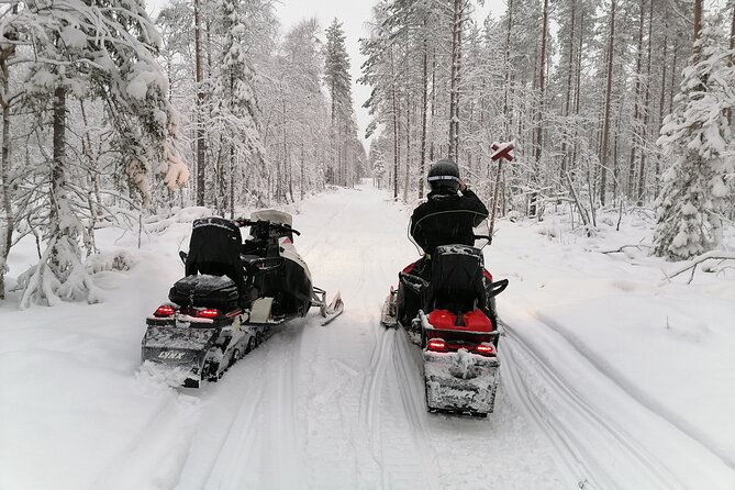 Private Snowmobile Experience in Rovaniemi's Forest