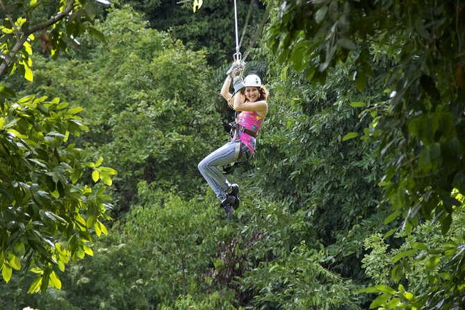 Zipline Canopy & Dunns River Falls Combo with Shopping from Falmouth