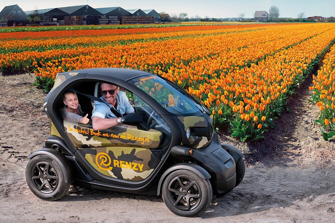 Drive it yourself electric Tulip and Flower Fields GPS audio tour