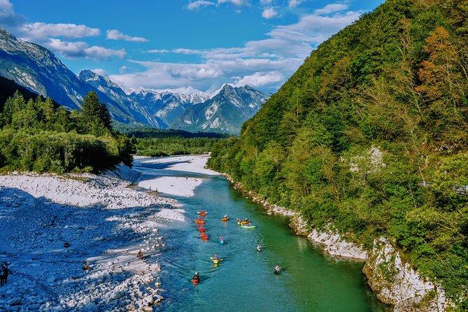 Guided Sit-on-top Kayaking Adventure in the Soča Valley from Čezsoča