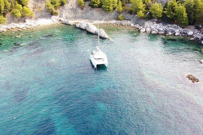 Blue Cave and 6 Islands Tour with Snorkeling,Entry tickets,Lunch & Wine