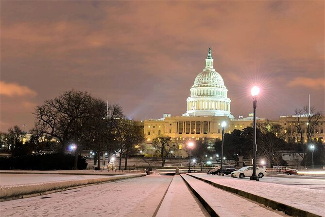 """3-Hour """"DC After Dark"""" Night-Time Guided Bus Tour with Stops at Top Attractions"""