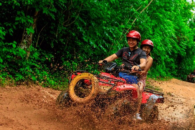 Atv adventure with zip lines, and a swim cenote experience from Cancun