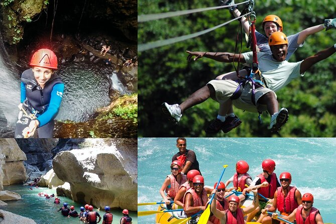 Rafting Canyoning e Zipline Adventure from Side