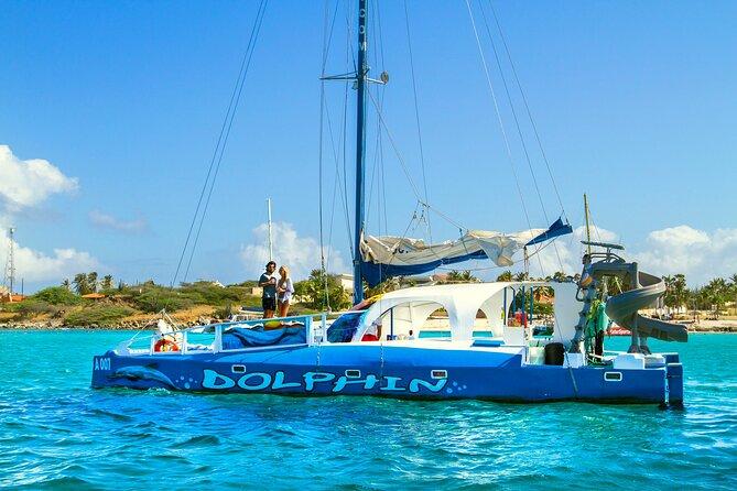 Aruba Private Catamaran Cruise with Rope Swing and Water Slide