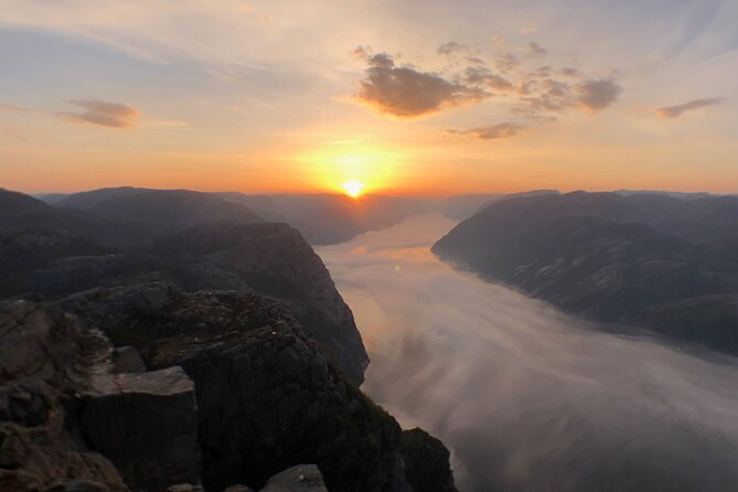 Guided sunrise hike to Pulpit Rock Preikestolen