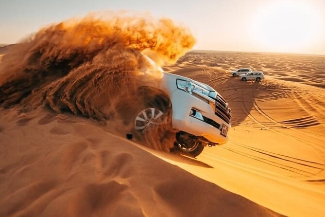 Dubai Evening Desert Safari with Camel Ride, Sand Boarding, BBQ & Entertainment