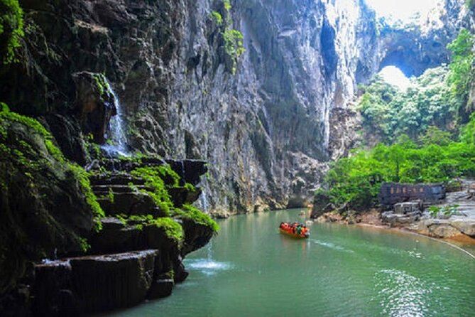Private day tour to Gulong Gorge glass bridge and Cave Fairyland from Guangzhou