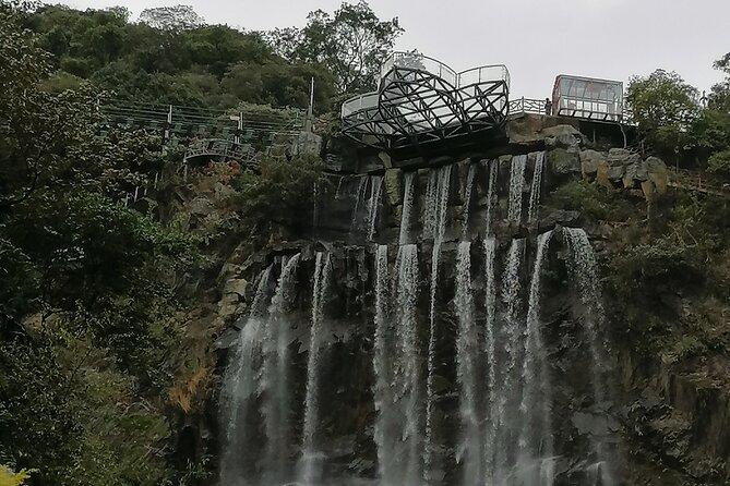Guangzhou private half day trip to Gulong Canyon glass bridge and waterfalls