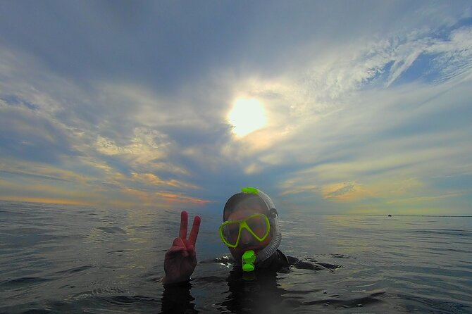 Amazing sky while snorkeling