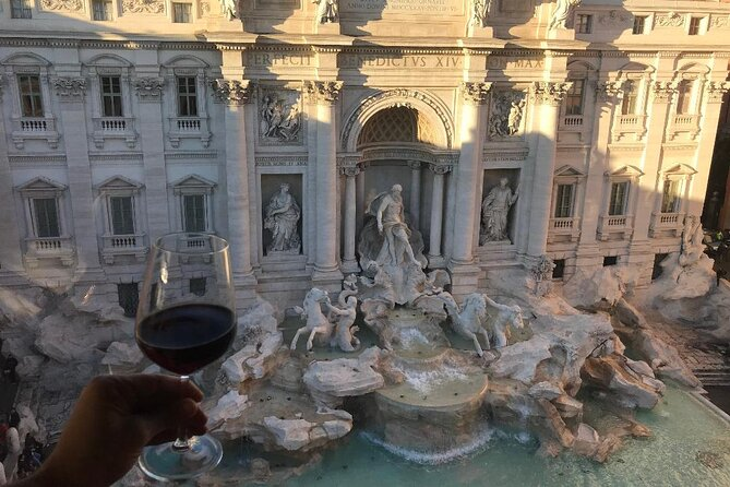 Food and wine Tour featuring a private rooftop view of the Trevi Fountain
