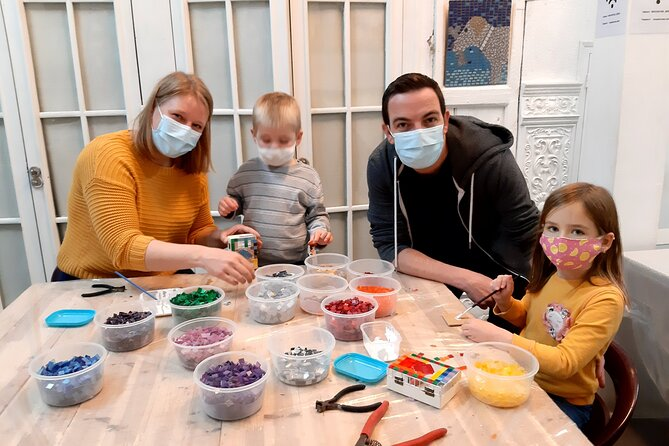 Mosaic class for children in Barcelona
