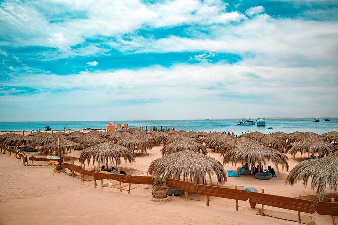 Paradise Island Snorkeling Sea Trip and Floating Aqua park. Water Sport-Hurghada