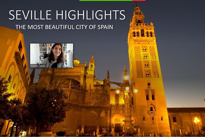 Seville virtual tour. The highlights of Seville. Live comment by Marta