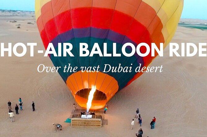 Private Views Of Dubai Beautiful Desert By Hot Air Balloon