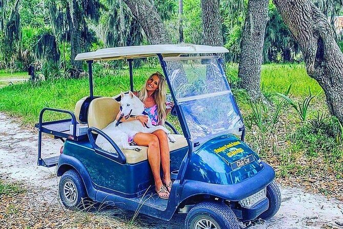 Took the Island Head Ferry to Daufuskie Island and rented a golf cart to explore for the day