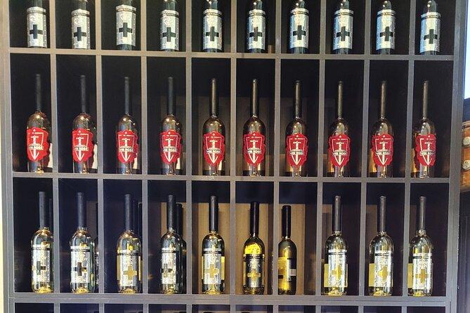 A wine display at Vamp by Lisa Mcguigan