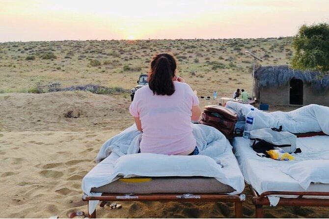 Half Day Overnight Desert Tour sleeping under the star in open sky