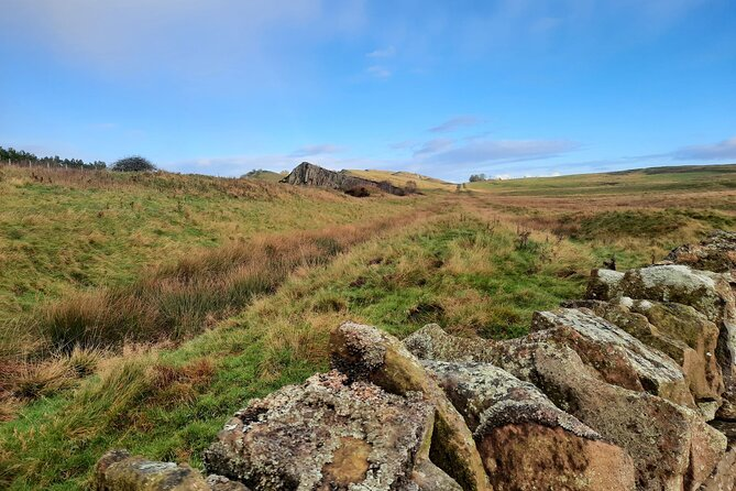 Looking along the defence ditch south of Hadrian's Wall
