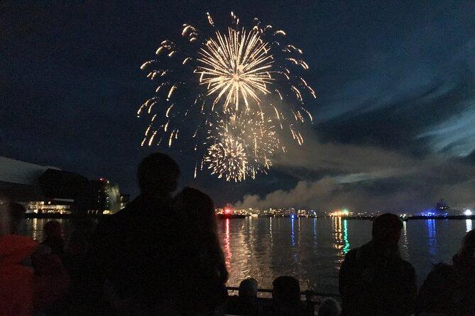 New Year's Festive Dinner with Fireworks Cruise in Reykjavík
