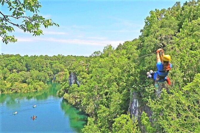 Big Cliff Canyon Zip Line Tour with 9 Zip Line Flights, 2 Sky Bridges, 1 Rappel