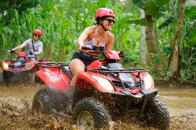 Bali Quad Bike Pass by Waterfall Gorilla Cave Private Transfer All-Inclusive