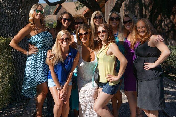 Girls posing at a Santa Barbara winery.