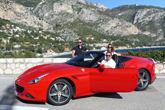 1 hour Ferrari California T drive from Nice