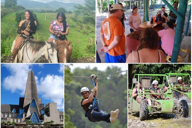 5 tours in 1 - Horseback Riding / City Tour / Cacao Farm / Zipline / Dune Buggy
