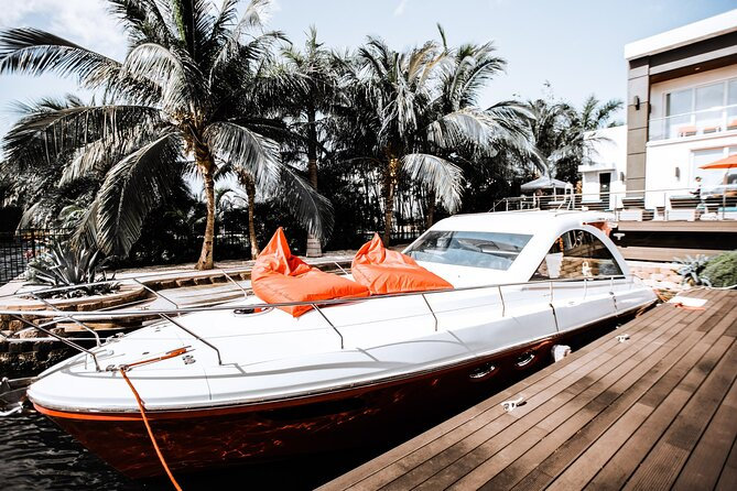 Ultra Luxury Boat Charter Experience—Mercedes, Yacht, Food, Drink