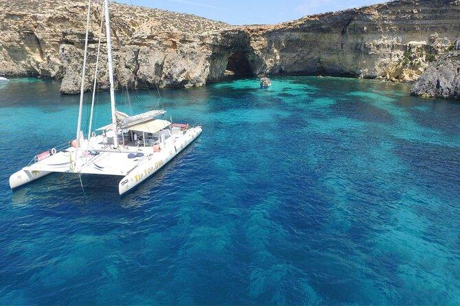 Full-Day Catamaran Cruise with Lunch in Island of Malta